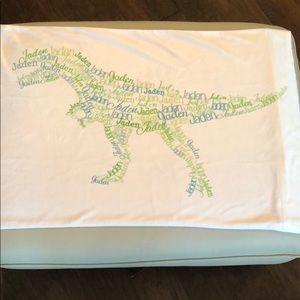 Personalized Pillowcase Jaden in Dinosaur shape